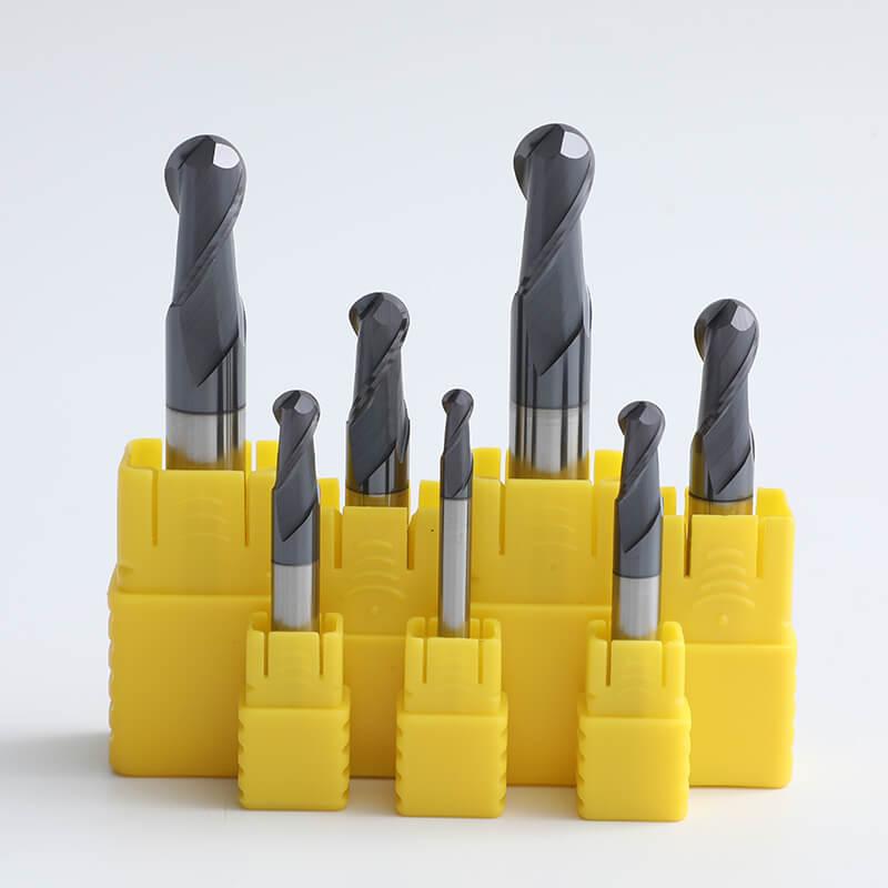 Carbide 2 Flute Standard Length Ball Nose End Mills 1 - 2 Flute Standard Length Carbide Ball Nose End Mills Cutter