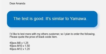 1605610478 Quality Similar to Yamawa %E5%9B%BE4 - Thread Tap Manufacturer